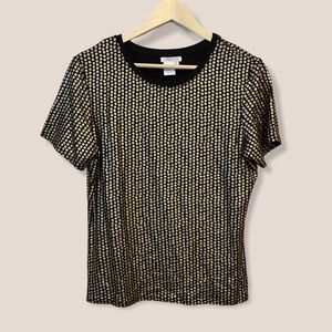 SPANNER Black and Gold Patterned T-Shirt